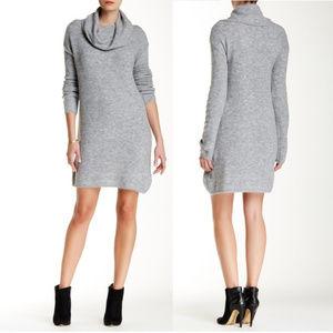 BB Dakota Grey Cowl Neck Sweater Dress Sz S